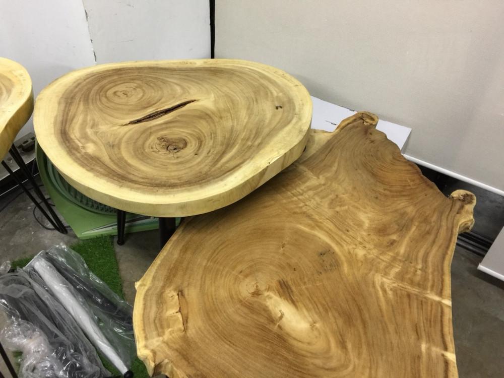 Mặt bàn gỗ nguyên tấm làm từ gỗ tự nhiên bền với nước