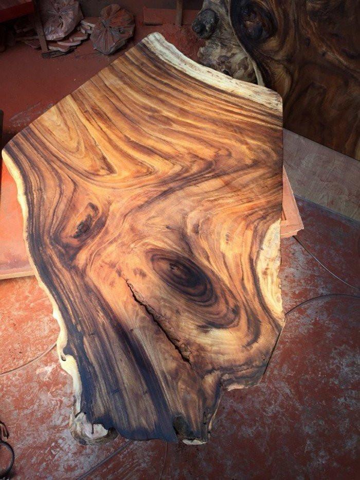 Mặt bàn gỗ nguyên tấm làm từ gỗ tự nhiên đẹp