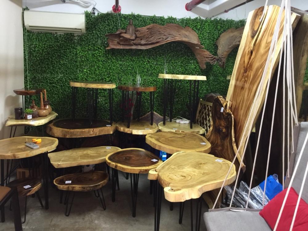 Mẫu mặt bàn gỗ nguyên tấm đẹp(6)