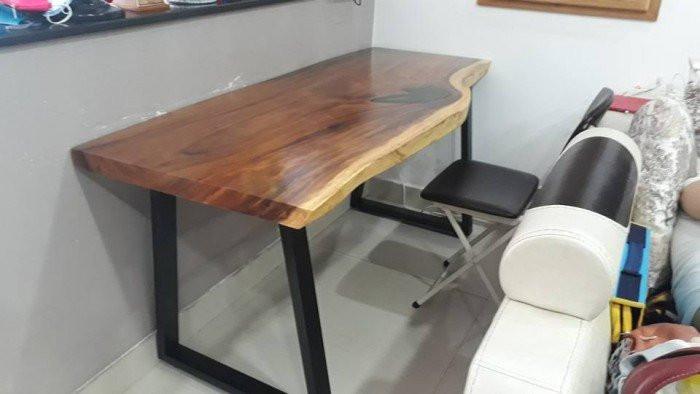 Ưu điểm của mặt bàn gỗ nguyên tấm làm từ gỗ me tây ( gỗ còng)(2)