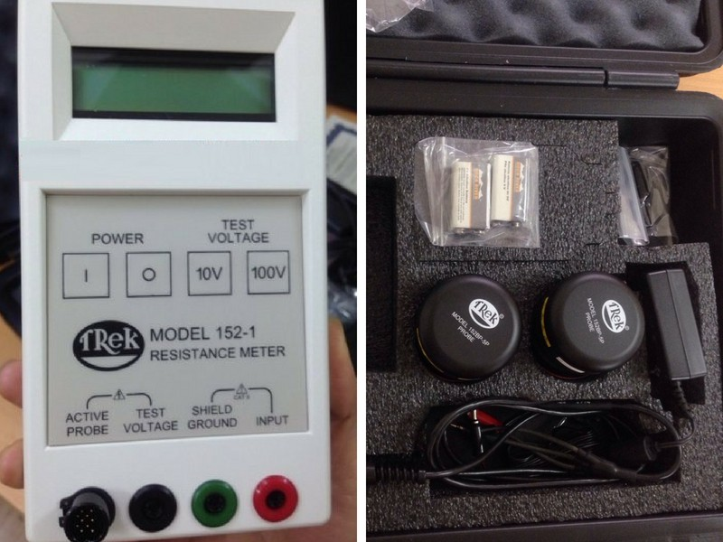 sử dụng máy đo điện trở bề mặt Trek