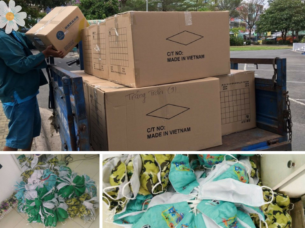 Cơ sở may khẩu trang vải vận chuyển thành phẩm tận nơi cho khách hàng đặt may