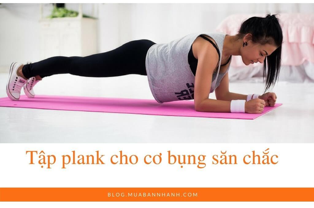 Tập plank cho cơ bụng săn chắc