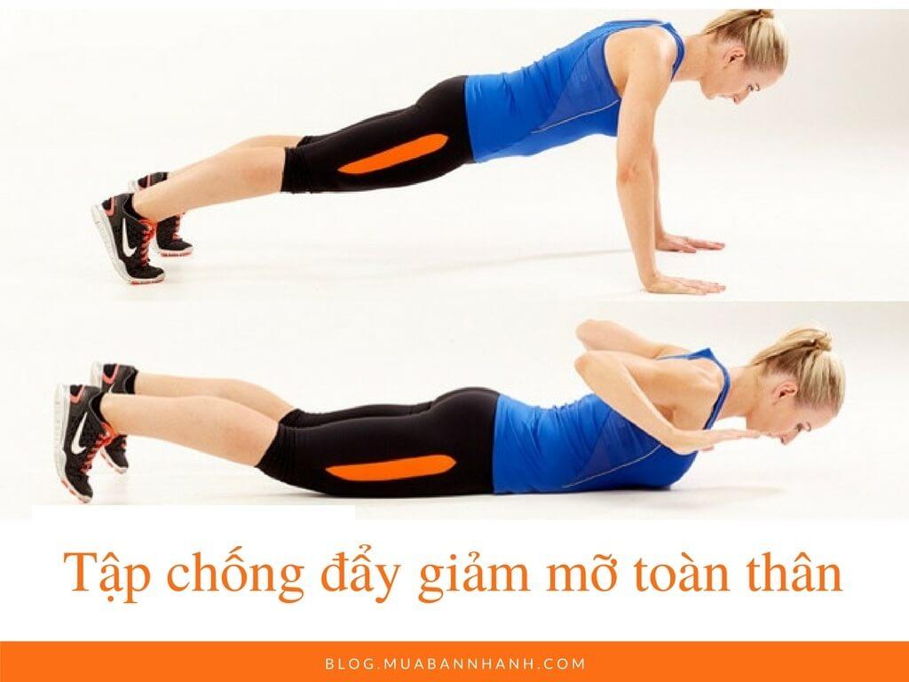 Tập chống đẩy giảm mỡ toàn thân (Push up)