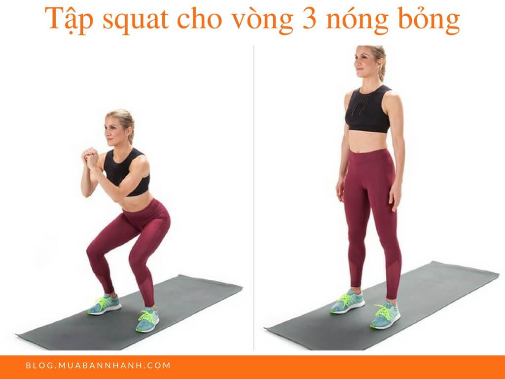 Tập squat cho vòng 3 nóng bỏng