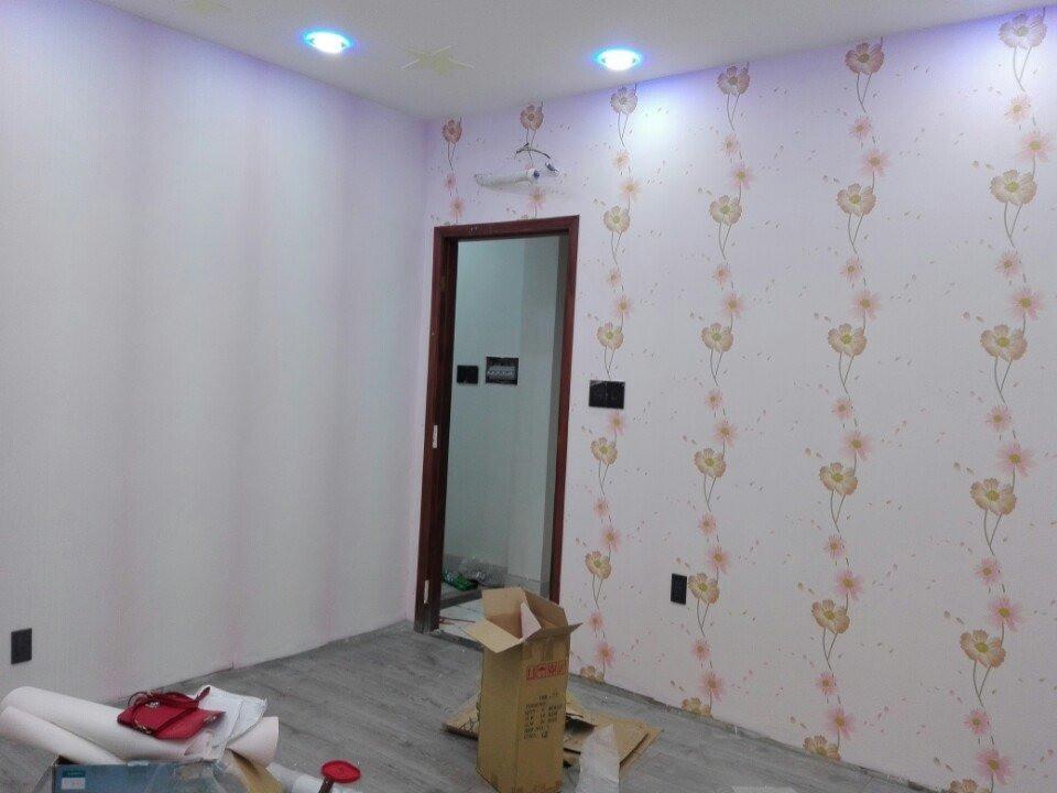 Thi công vải dán tường cách âm cho phòng của bé