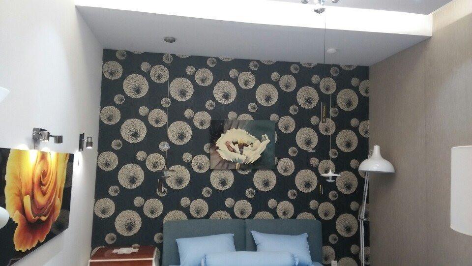 Thi công vải dán tường sợi thủy tinh cách âm cho phòng ngủ diện tích nhỏ