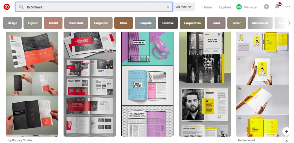 Tham khảo mẫu thiết kế brochure đẹp từ Pinterest