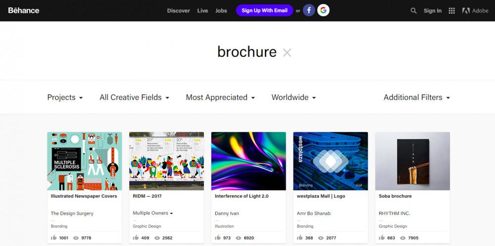 Tham khảo mẫu thiết kế brochure đẹp từ Behance