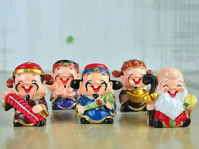[Tượng thần tài phong thủy] Bộ tượng 5 ông thần tài Chibi đem lại may mắn và niềm vui mỗi ngày(2)