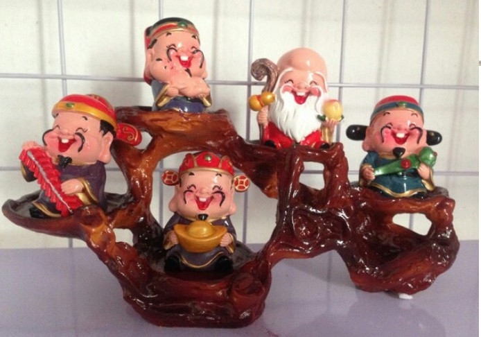 [Tượng thần tài phong thủy] Bộ tượng 5 ông thần tài Chibi đem lại may mắn và niềm vui mỗi ngày(4)