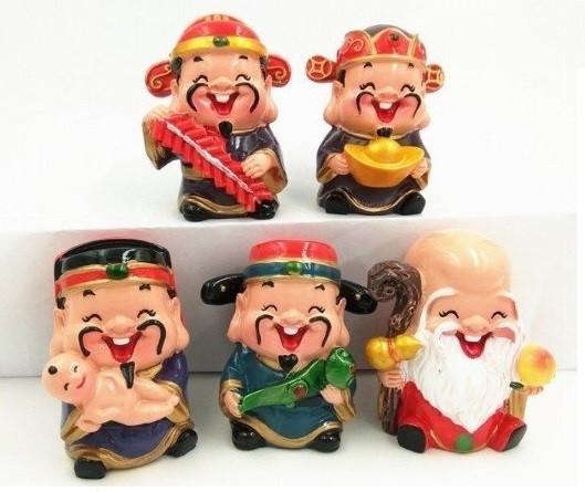 [Tượng thần tài phong thủy] Bộ tượng 5 ông thần tài Chibi đem lại may mắn và niềm vui mỗi ngày(5)