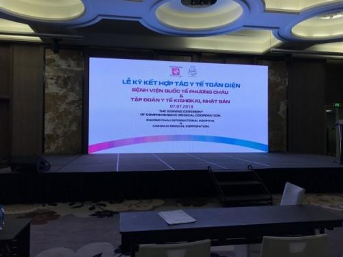 Cho thuê màn hình Led P4 outdoor sự kiện Lễ ký kết hợp tác diễn ra tại Vinpearl Cần Thơ