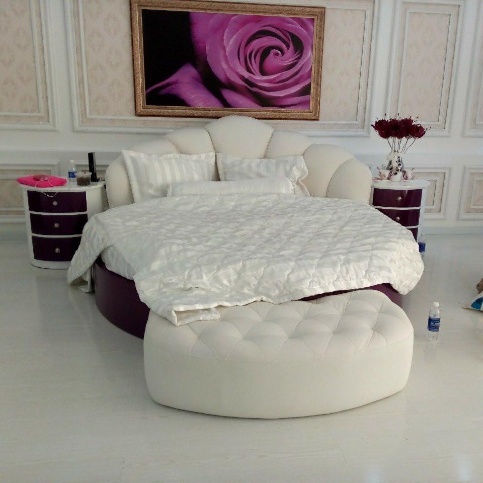 10 mẫu phòng ngủ sang trọng với chiếc giường tròn cao cấp, giá rẻ TPHCM(1)
