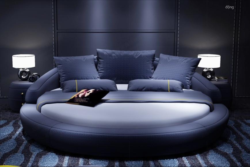 10 mẫu phòng ngủ sang trọng với chiếc giường tròn cao cấp, giá rẻ TPHCM(3)