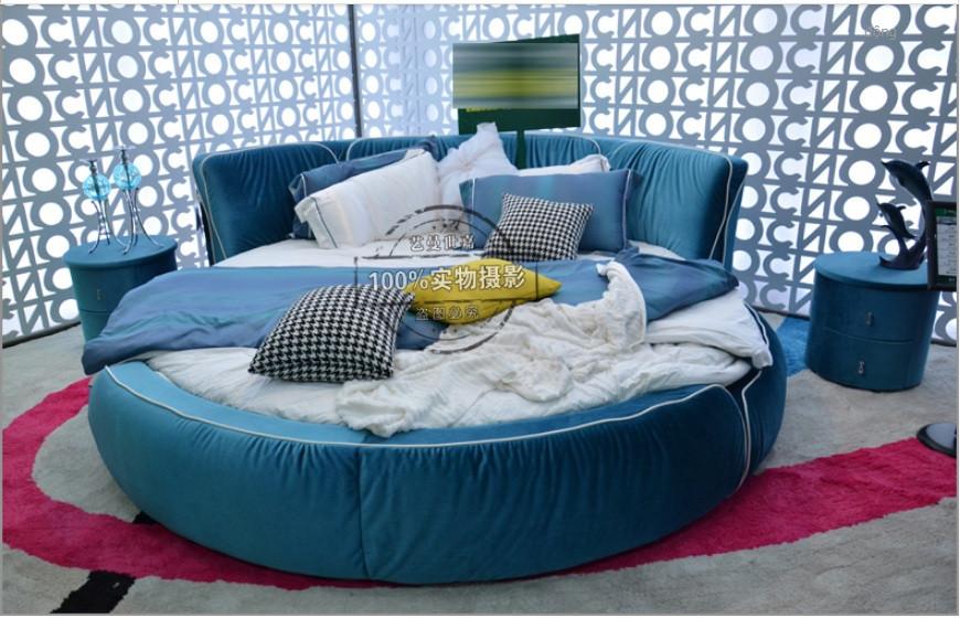 10 mẫu phòng ngủ sang trọng với chiếc giường tròn cao cấp, giá rẻ TPHCM(7)