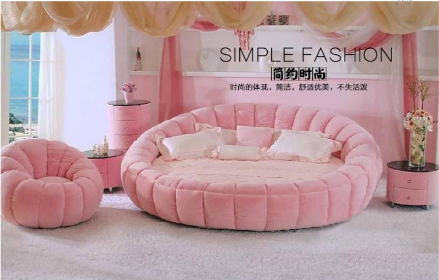 10 mẫu phòng ngủ sang trọng với chiếc giường tròn cao cấp, giá rẻ TPHCM(9)
