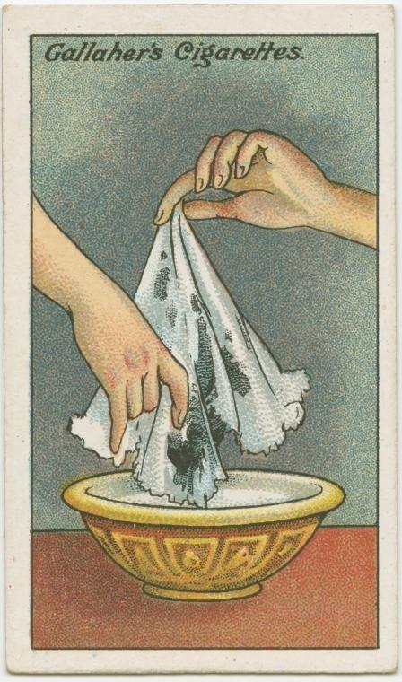 Cách loại bỏ vết mực khỏi khăn tay