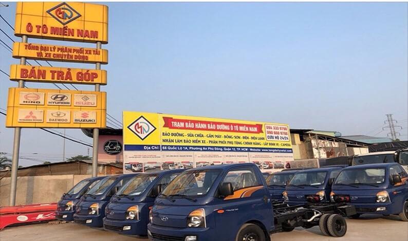 mua xe tải H150 1.5 tấn trả góp lãi suất thấp