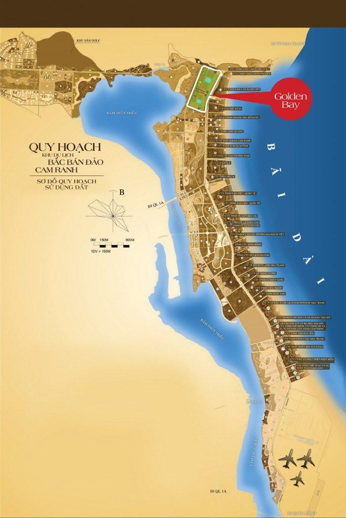 Tổng quan, vị trí, tiện ích, giá bán đất nền dự án Golden Bay Cam Ranh