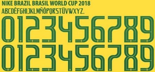 Font áo Brazil World Cup 2018