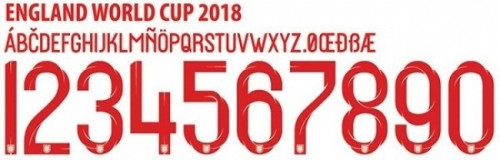 Font áo Anh World Cup 2018