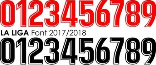 Font áo La Liga 2017/2018