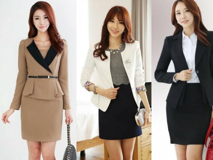 Mẫu đồng phục công sở đẹp: chân váy, áo sơ mi & vest