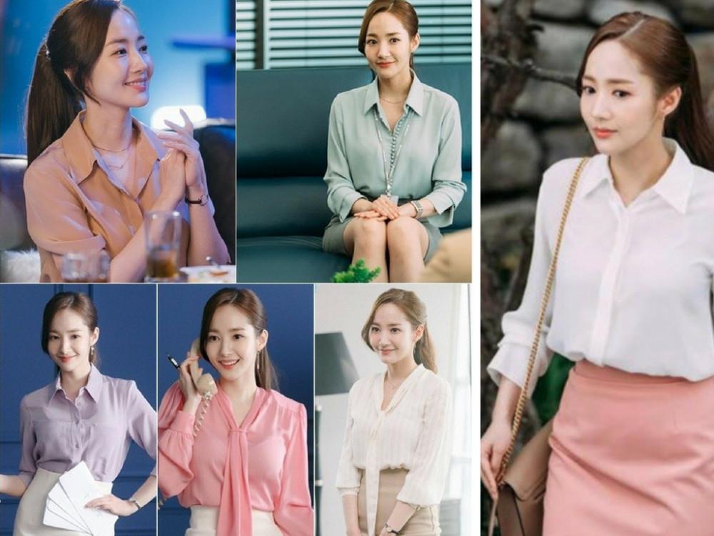 Mẫu đồng phục công sở Thư ký Kim - áo sơ mi Hàn Quốc