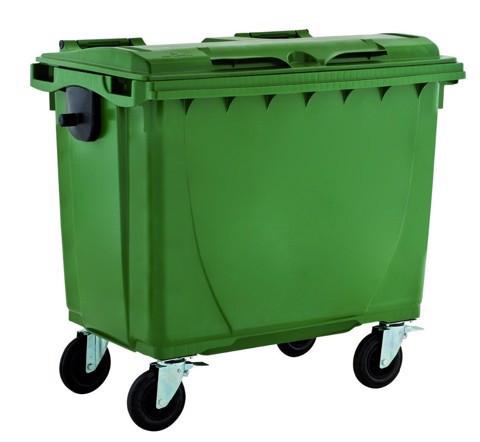 Cung cấp thùng rác nhựa 660 lít 4 bánh xe giá tốt