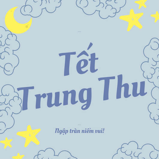 Mẫu poster Trung Thu dán cửa kính: Tết Trung Thu - Ngập tràn niềm vui!