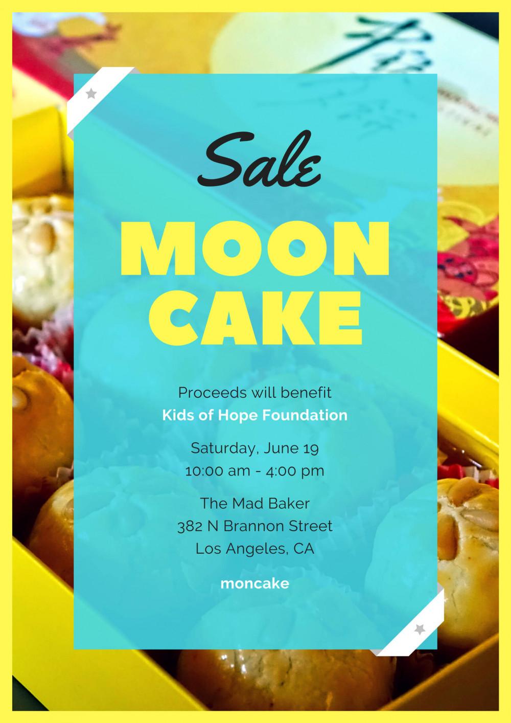 Mẫu poster Trung Thu dán cửa kính: Sale Moon Cake