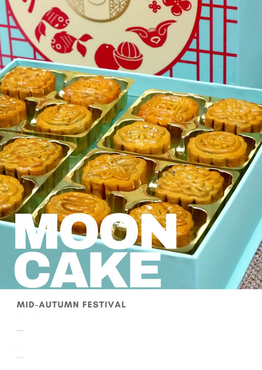 Mẫu poster Trung Thu dán cửa kính: Moon Cake (4)