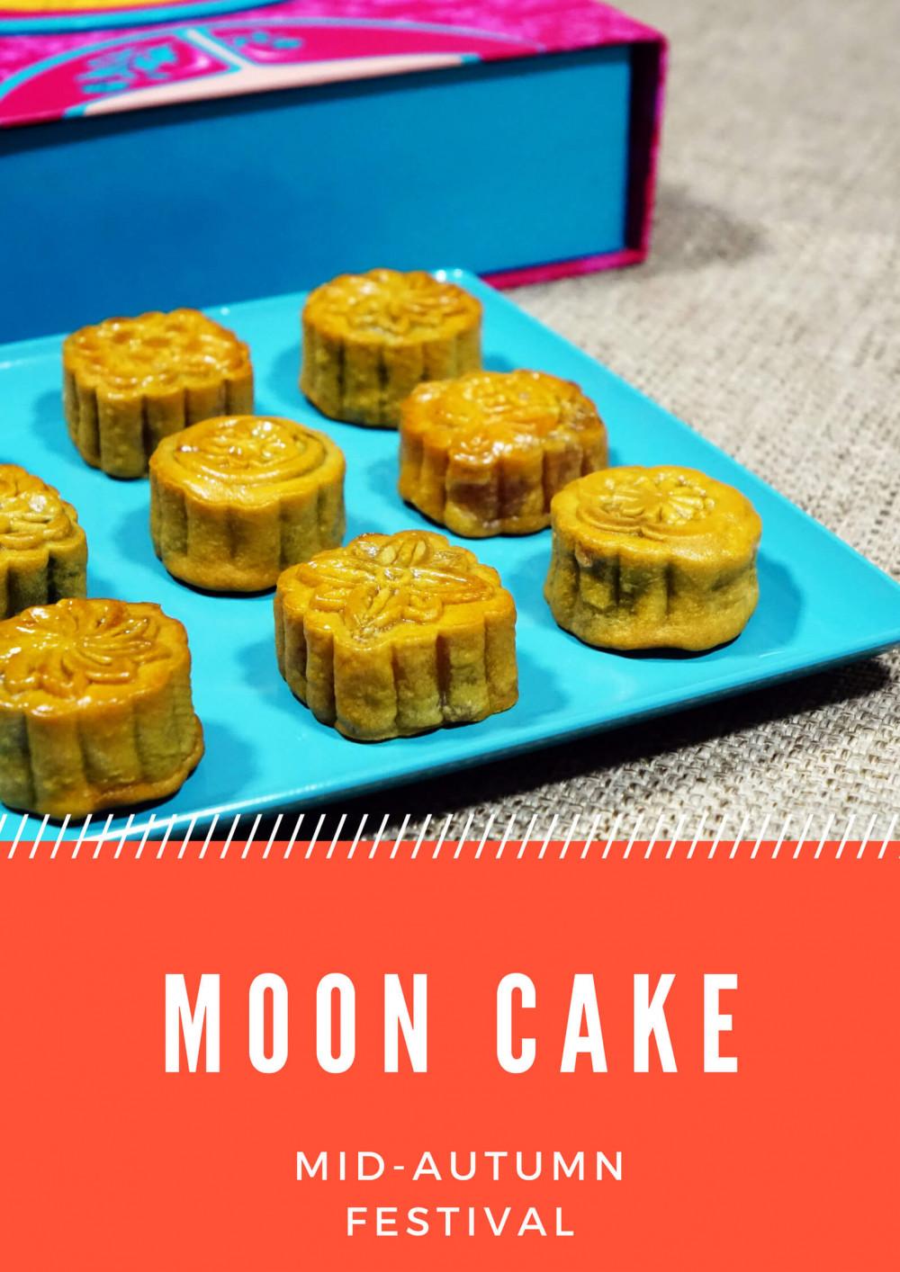 Mẫu poster Trung Thu dán cửa kính: Moon Cake (5)