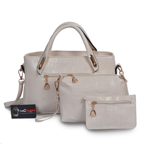 Mẫu bộ 3 túi xách màu trắng