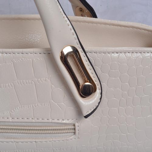 Mẫu bộ 3 túi xách màu trắng - quai của túi xách lớn