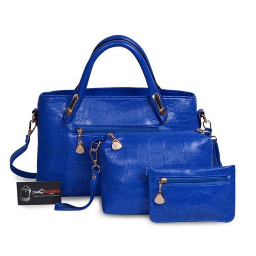 Mẫu bộ 3 túi xách màu xanh Navi
