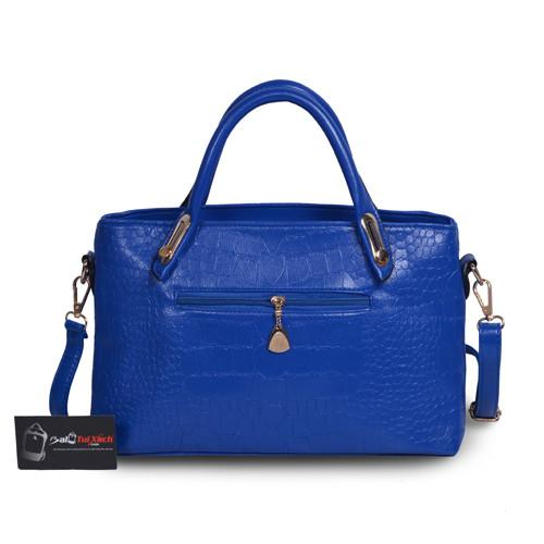 Mẫu bộ 3 túi xách màu xanh Navi - mặt sau túi xách lớn