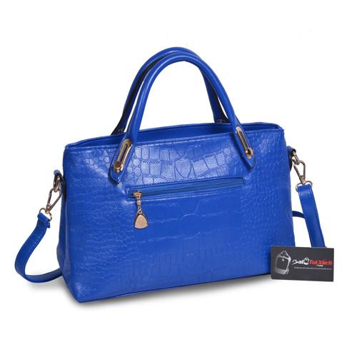 Mẫu bộ 3 túi xách màu xanh Navi - mặt nghiêng túi xách lớn