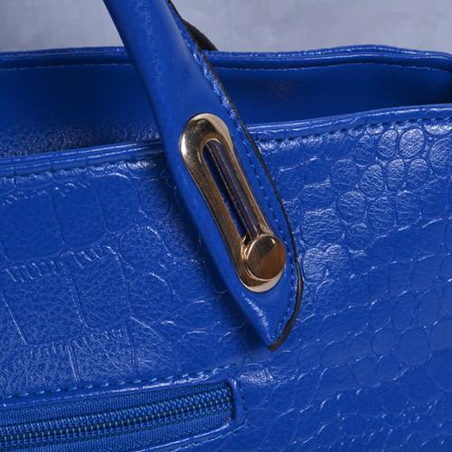 Mẫu bộ 3 túi xách màu xanh Navi - quai của túi xách lớn