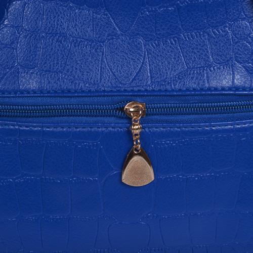 Mẫu bộ 3 túi xách màu xanh Navi - khóa kéo mặt sau túi xách lớn