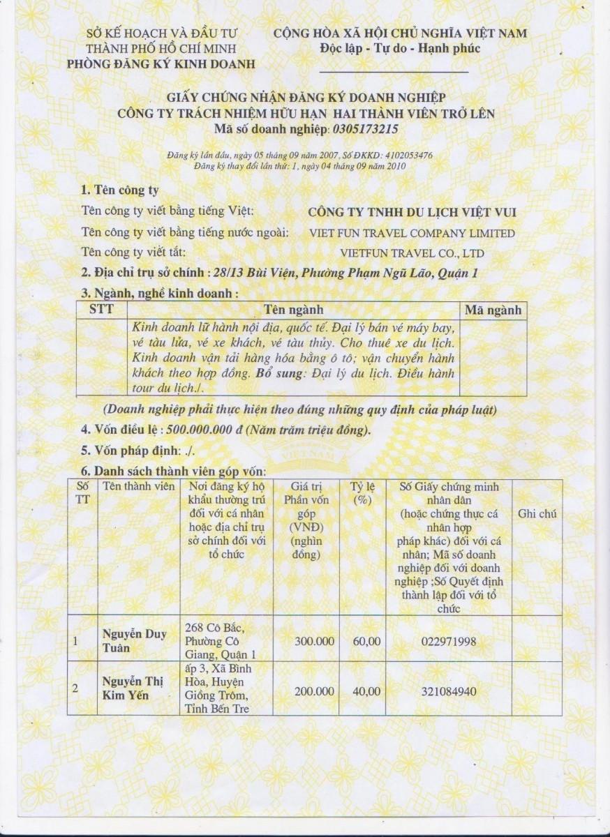 Dịch vụ giấy phép kinh doanh giá rẻ tại TPHCM