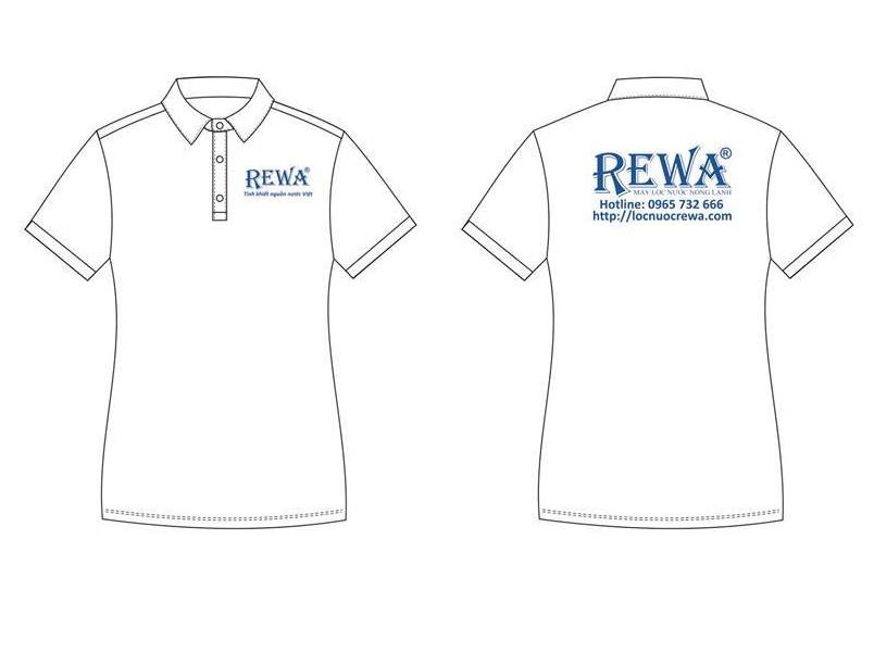 Mẫu áo thun đồng phục nhân viên công ty, cửa hàng màu trắng