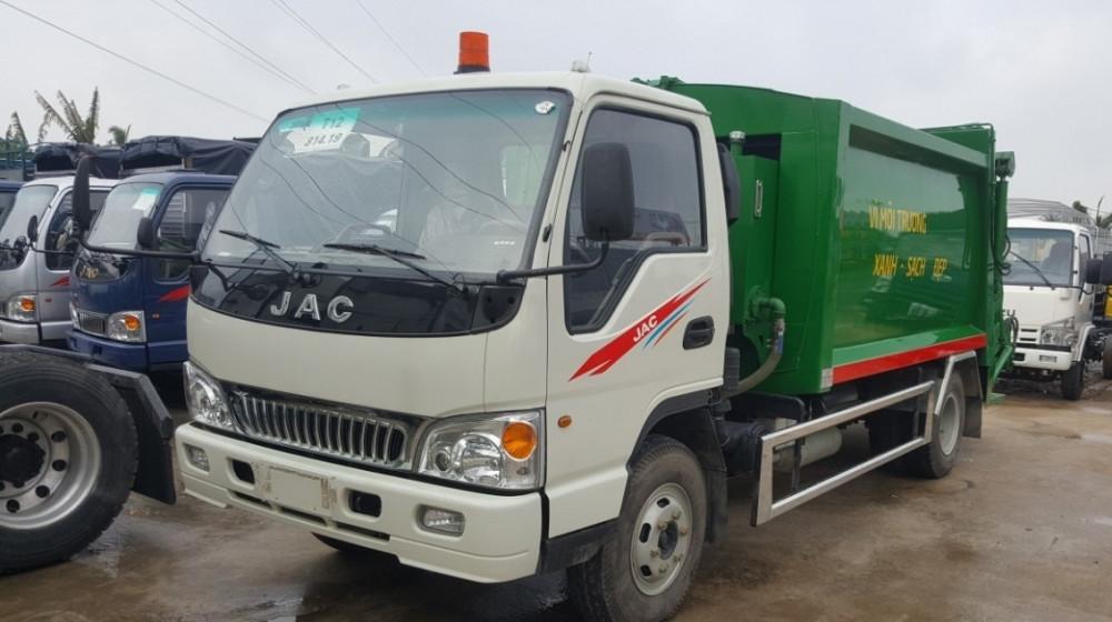 Đánh giá xe tải Jac HFC1061K3 thùng cuốn ép rác 9 khối - 9m3 giá rẻ