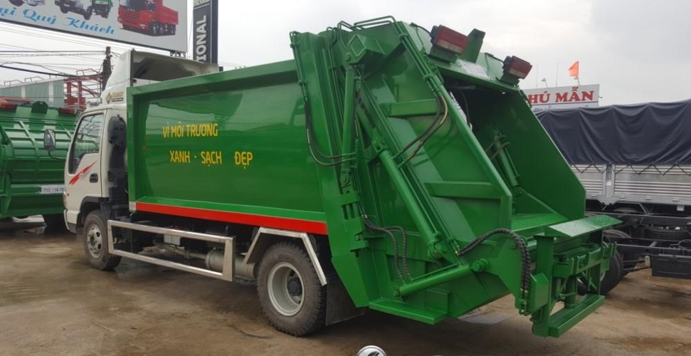 Đánh giá xe tải Jac HFC1061K3 thùng cuốn ép rác 9 khối - 9m3 giá rẻ(1)