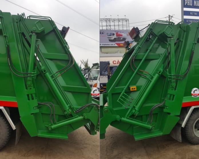 Đánh giá xe tải Jac HFC1061K3 thùng cuốn ép rác 9 khối - 9m3 giá rẻ(5)