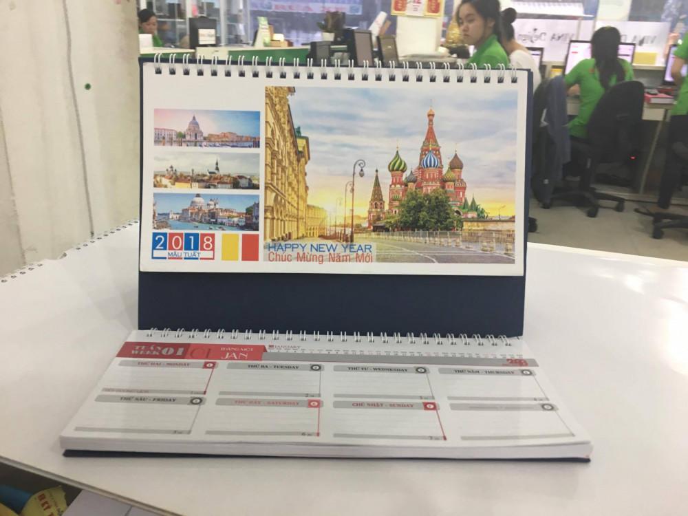Mẫu lịch để bàn công trình nổi tiếng thế giới
