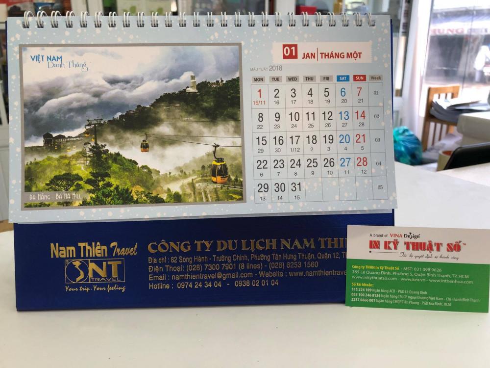 Mẫu lịch để bàn danh lam thắng cảnh Việt Nam