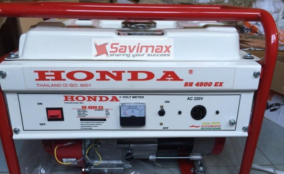 Máy phát điện Honda SH 4500EX (3.5kw, chạy xăng, đề nổ)