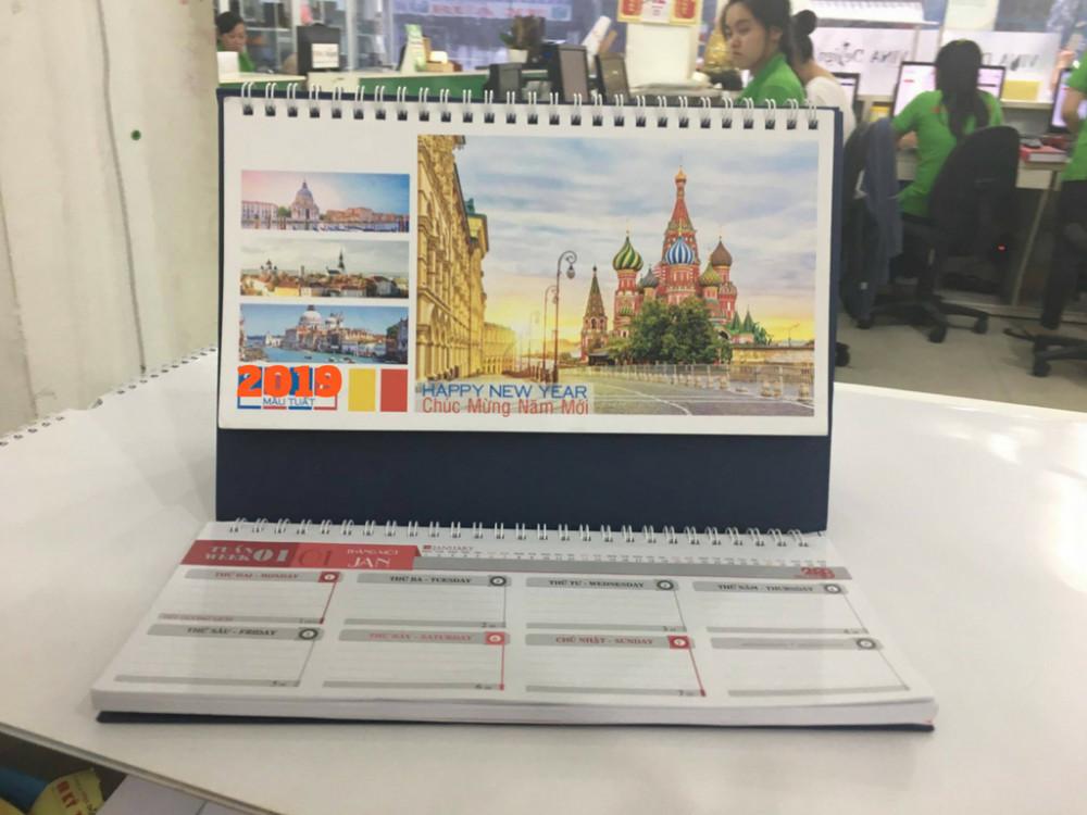 Mẫu lịch Tết - mẫu lịch để bàn